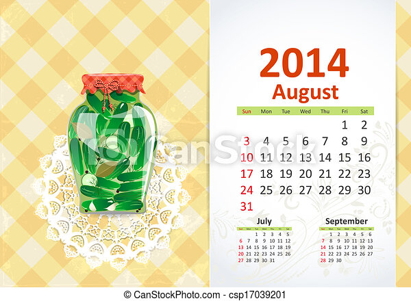 Calendar for 2014, august - csp17039201