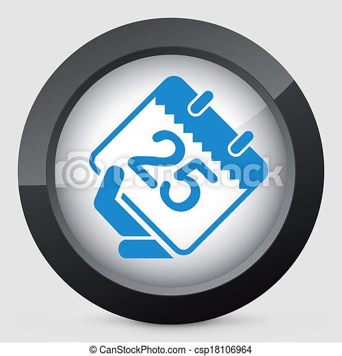 Calendar icon - csp18106964