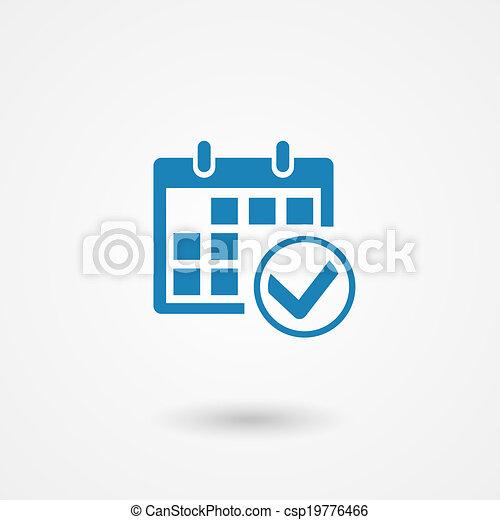 calendar icon - csp19776466