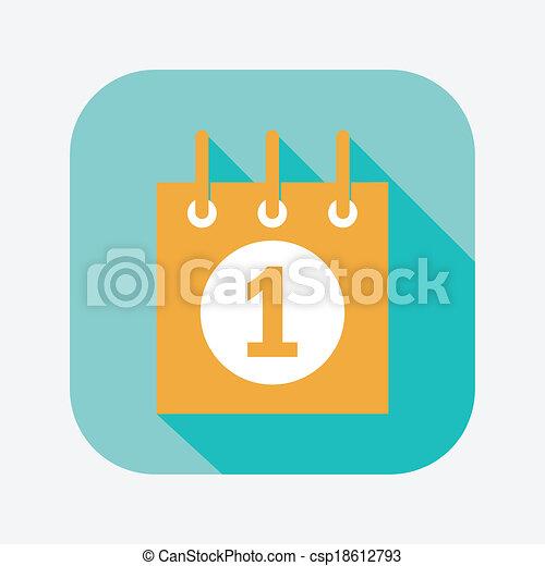 calendar icon - csp18612793