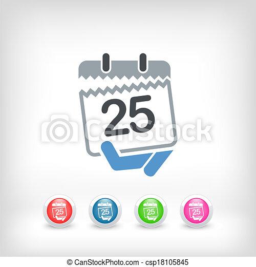 Calendar icon - csp18105845
