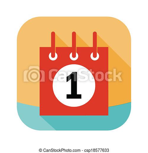 calendar icon - csp18577633