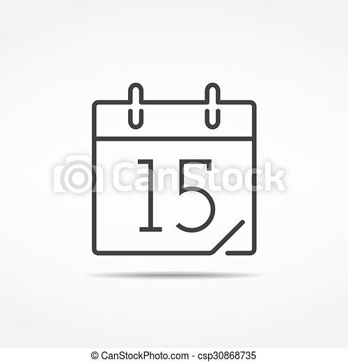 Calendar Icon - csp30868735