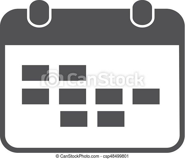 Calendario Vector Blanco.Calendar Icon In Black On A White Background Vector Illustration