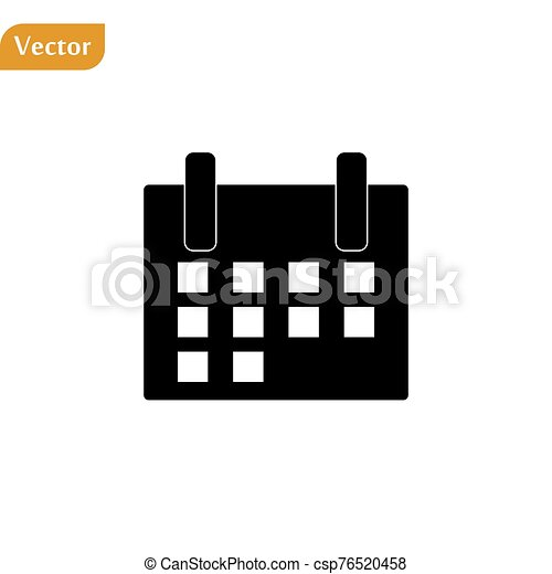 Calendar Icon in trendy flat style isolated on grey background. Calendar symbol for your web site design, logo, app, UI. Vector illustration, EPS10 - csp76520458