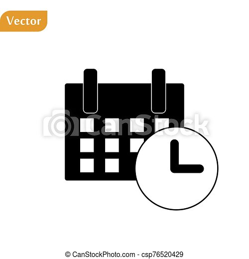 Calendar Icon in trendy flat style isolated on grey background. Calendar symbol for your web site design, logo, app, UI. Vector illustration, EPS10 - csp76520429