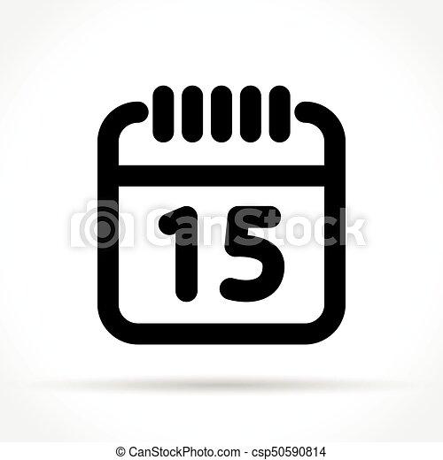 Illustration Calendrier.Calendar Icon On White Background