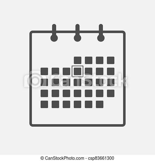 Calendar icon on white background - csp83661300