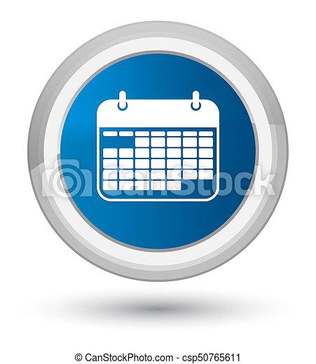 Calendar icon prime blue round button - csp50765611