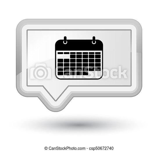 Calendar icon prime white banner button - csp50672740