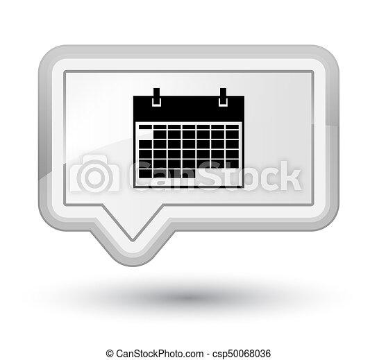 Calendar icon prime white banner button - csp50068036
