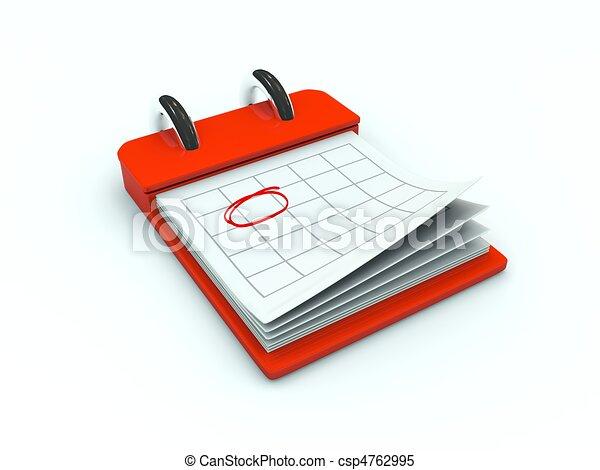 Calendar icon. Red series - csp4762995