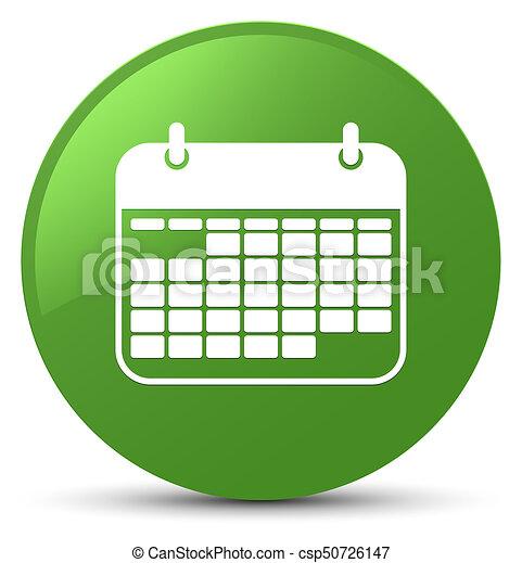 Calendar icon soft green round button - csp50726147