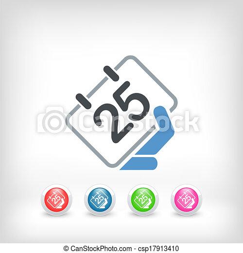 Calendar icon - csp17913410