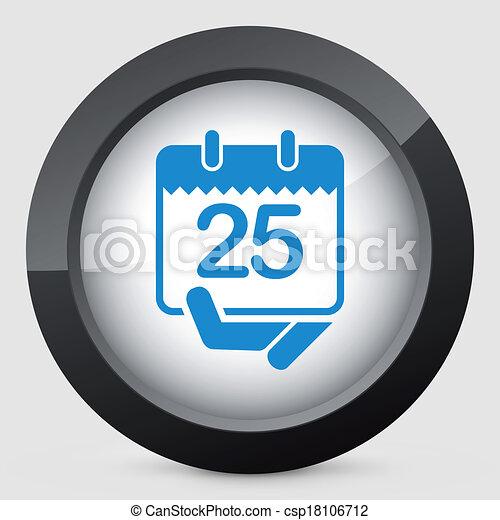 Calendar icon - csp18106712