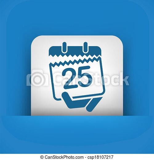 Calendar icon - csp18107217