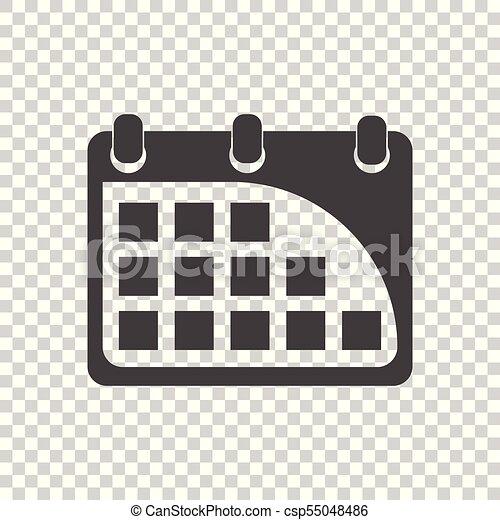 calendar icon vector flat