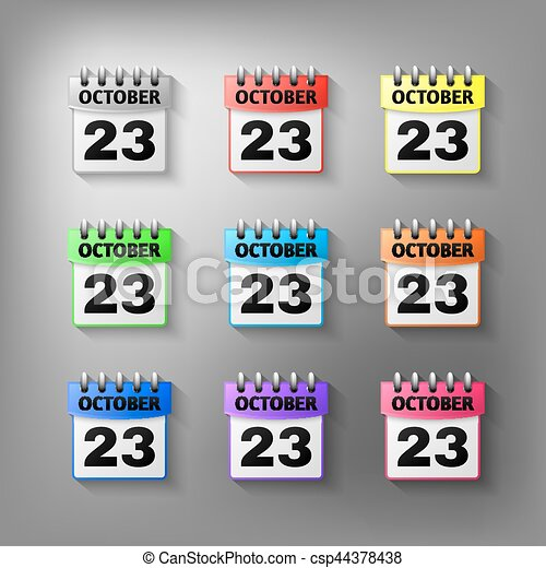 Calendar icon vector set - csp44378438