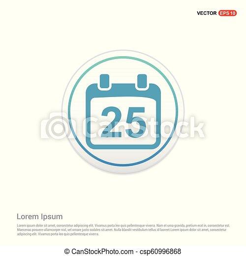 calendar icon - white circle button - csp60996868