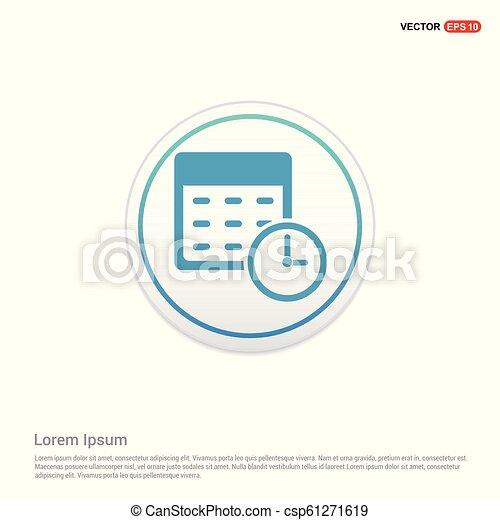 calendar icon - white circle button - csp61271619