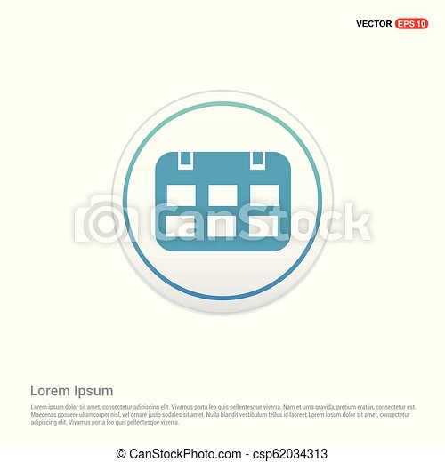 calendar icon - white circle button - csp62034313