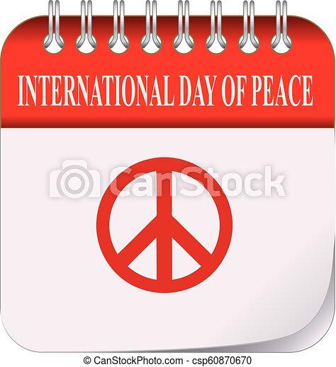 Calendar International Day Of Peace Classic Calendar For The
