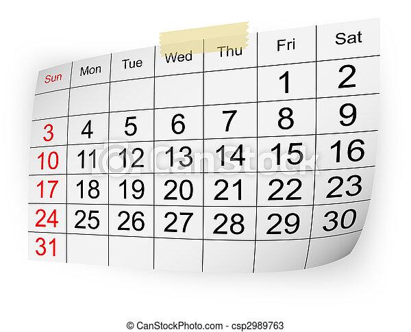 calendar january 2010 - csp2989763