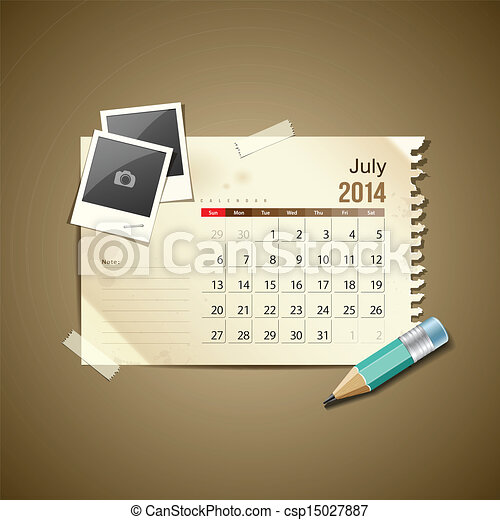 Calendar July 2014 - csp15027887