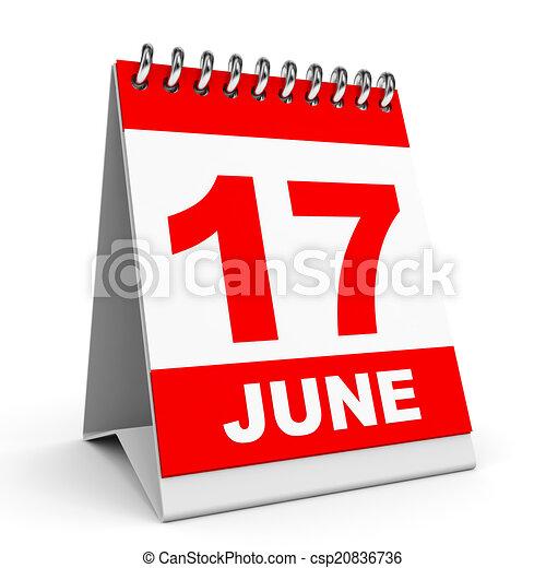 Calendario. 17 de junio. - csp20836736