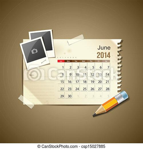 Calendar June 2014 - csp15027885