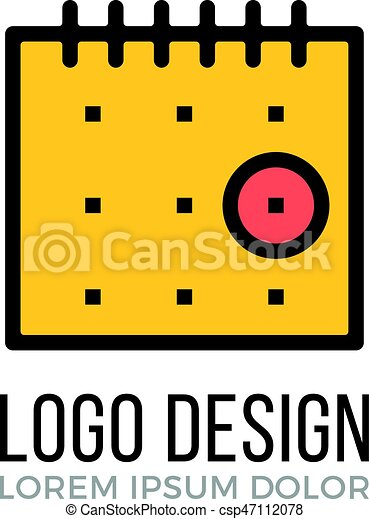 calendar logo design concept calendar icon vector logo isolated on