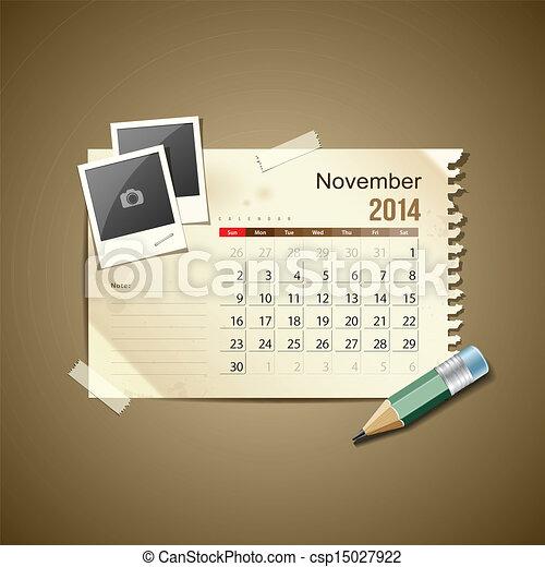 Calendar November 2014 - csp15027922