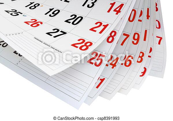 Calendar Pages  - csp8391993