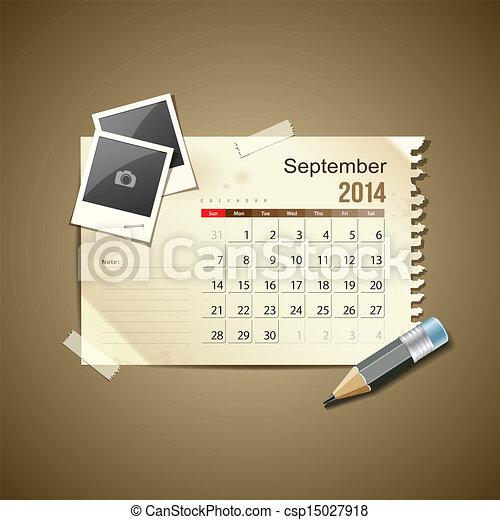 Calendar September 2014 - csp15027918