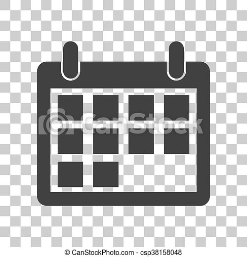 Illustration Calendrier.Calendar Sign Illustration Dark Gray Icon On Transparent Background