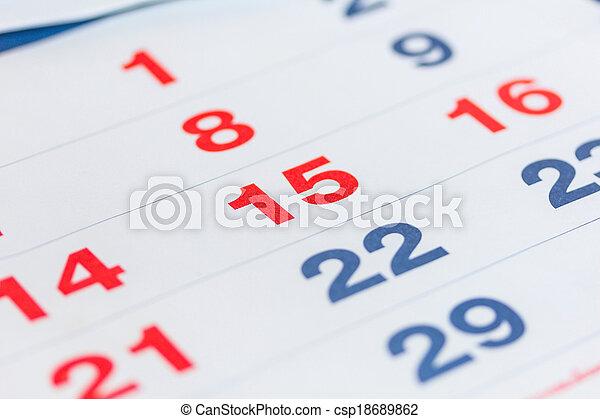 calendar - csp18689862
