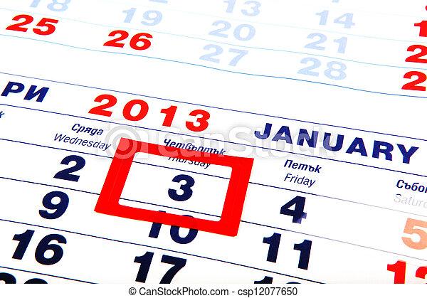 calendar - csp12077650