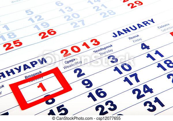 calendar - csp12077655