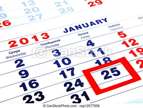 calendar - csp12077656