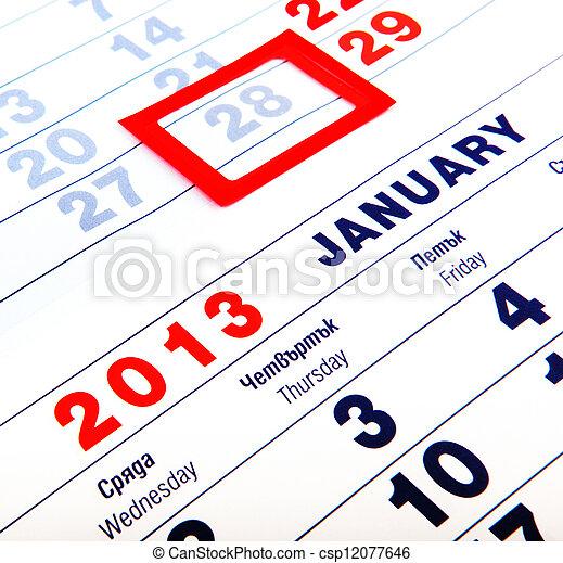 calendar - csp12077646