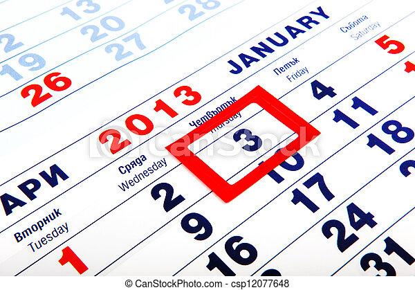 calendar - csp12077648