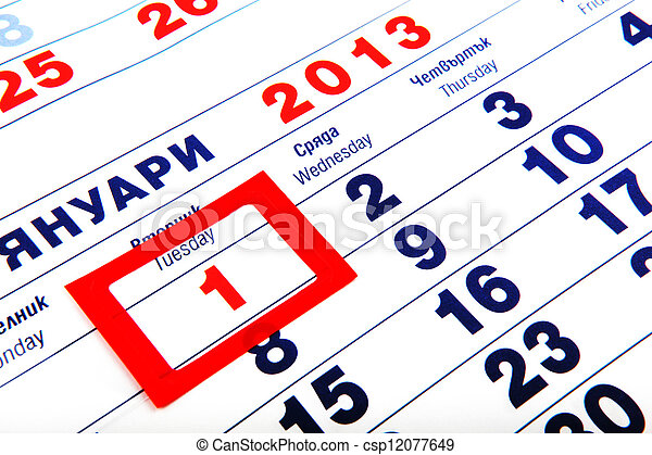 calendar - csp12077649