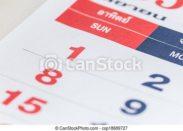 calendar - csp18689727