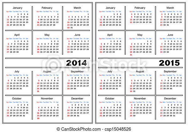 Calendar Template 20142015 Template Of A Calendar Of White Color