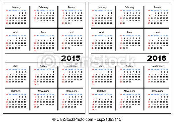 Calendar Template 2015 2016 Template Of A Calendar Of White Color