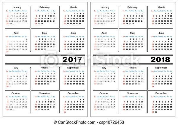 Calendar Template 2017 2018 Template Of A Calendar Of Clipart
