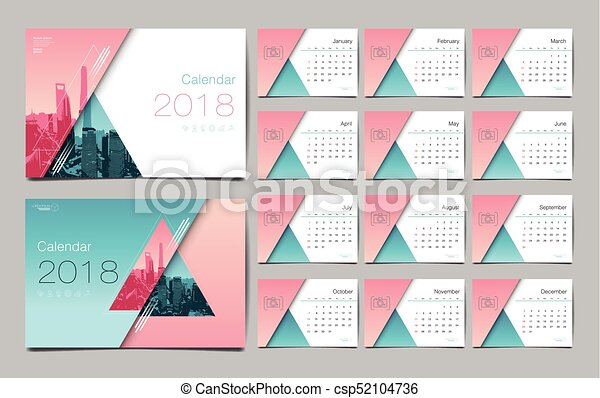 Calendar template for 2018 year vector design layout business calendar template for 2018 year vector design layout business company wajeb Images