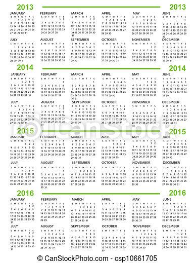 Calendar - csp10661705
