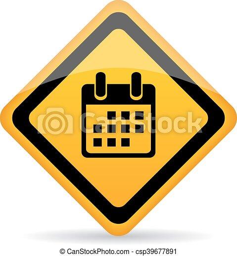Calendar vector sign - csp39677891