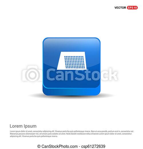 Calendar web icon - 3d Blue Button - csp61272639